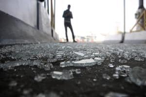 The incident took place when the supporters of several fringe groups entered the DND Flyway from the Greater Noida side onSunday and damaged the toll plaza booths.