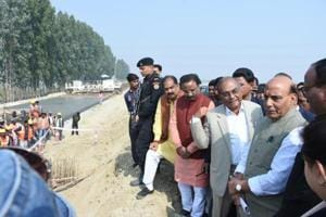 Lucknow: Rajnath inspects outer ring road project, says another three...