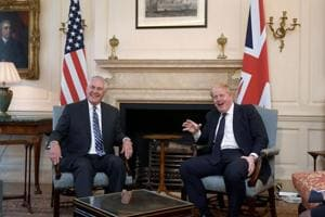 US Secretary of State Rex Tillerson visits London embassy after Trump...