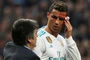 Cristiano Ronaldo receives treatment for facial injury - Watch video