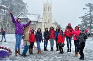 Shimla receives season's first snowfall