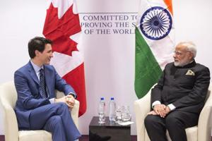 Modi meets Trudeau, discusses issues of mutual interest