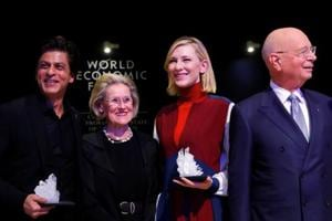 Shah Rukh Khan gets special honour in Davos, and asks Cate Blanchett...