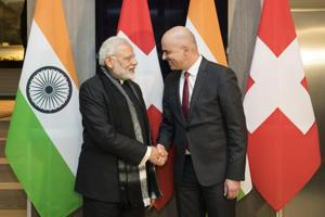 India hosts welcome reception at WEF summit, PM Modi holds talks with...