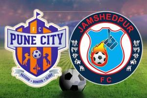FC Pune City vs Jamshedpur FC, Indian Super League, live football...