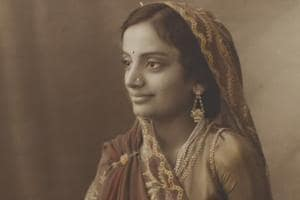 A photograph of Maharani of Pratapgarh.