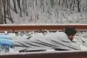 Video of Kashmiri man's rail stunt goes viral, people seek action