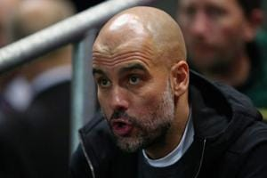 Manchester City manager Pep Guardiola has said that he sees the...