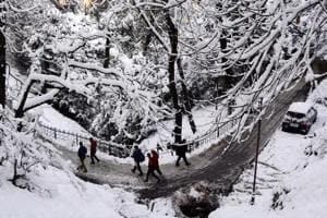 Snowfall turns Shimla into a winter wonderland!
