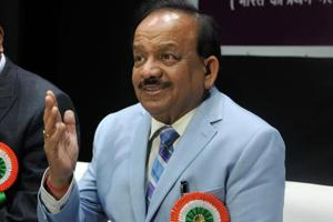 Union Environment Minister Dr. Harsh Vardhan in Pune, India, on January 8, 2018.