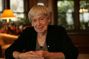 Ursula Le Guin at her home in Portland, Oregon, California in December 2005.