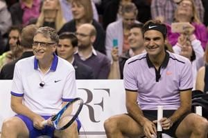 Roger Federer to play tennis doubles match with Bill Gates