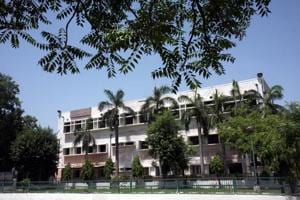 A shot of  the Delhi College of Arts and Commerce.