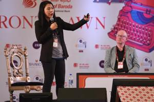 In the session titled Undercover in North Korea: Facts and Fiction, investigative journalist Suki Kim spoke about her experience of working as a teacher at a North Korean University in 2011.