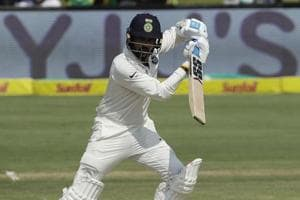Murali Vijay watches his shot during the second day of the India vs South Africa third Test in Johannesburg.  Follow  highlights of India vs South Africa, third Test, Day 2 here.