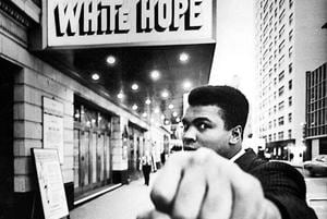 Float like a butterfly, sting like a bee: Muhammad Ali outside the Alvin theater in New York on October 1, 1968. James Lawton's A Ringside Affair begins with the final days of Ali's illustrious pro boxing career in the ring.