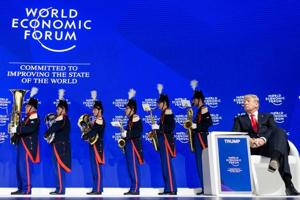 Davos Diary: Rock star Trump steals show at World Economic Forum