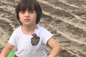 Mum Gauri Khan shares cute pic of AbRam wearing dad Shah Rukh's Knight...