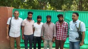 Members of the Pawan Naidu gang, which has been involved in car break-ins and thefts in Gurgaon.