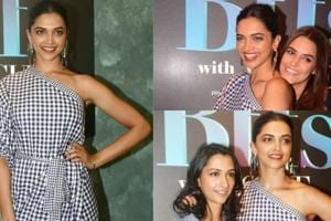 Padmaavat actor Deepika Padukone is making the blue-and-white gingham print feel fresh.