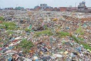 The Bhagatanwala garbage dump continues to be an eyesore for the residents.