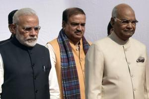 President Ram Nath Kovind and Prime Minister Narendra Modi ahead of Parliament's Budget Session on Monday.