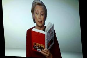 Hillary Clinton reads from controversial Trump book 'Fire and Fury' at...