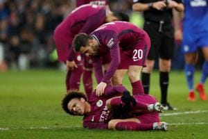 Manchester City breeze into FA Cup fifth round but Leroy Sane suffers...