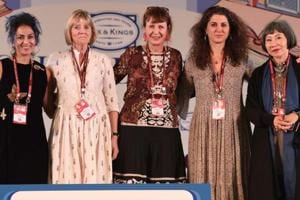 The session, titled The Feminine Gage: Women Writing Memoir was attended by Abeer Y Hoque, Alia Malek, Amy Tan, Juliet Nicolson and Keggie Carew.