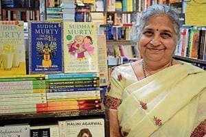 Author Sudha Murty at Capital Book Depot, Sector 17, Chandigarh, on Monday.