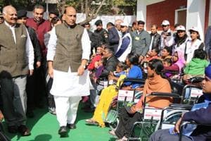 The minister, who was supposed to arrive at 11am, reached the venue at 11:35am. But before meeting the disabled children, he, along with other VIPs, planted saplings on the premises, leaving the children, who were waiting for him, high and dry.