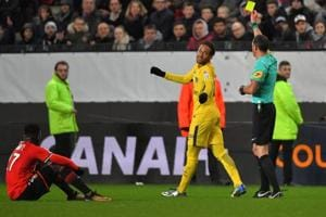 Neymar held out his hand to seemingly help Hamari Traore – who was on...
