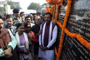 Deputy chief minister Keshav Prasad Maurya inaugurated and laid foundation stones of various PWD road projects.
