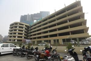 The multilevel car park can accommodate 2,820 cars and 180 two-wheelers.