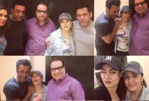 Salman Khan, Sonakshi Sinha, Bobby Deol ring in Preity Zinta's...