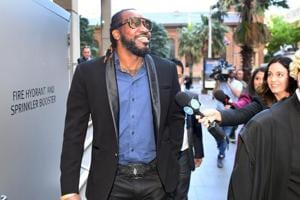 Ahead of IPL, Chris Gayle dismisses Andre Russell, celebrates with...