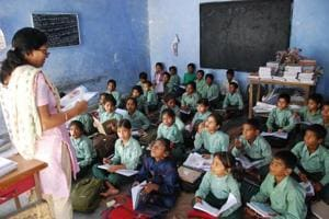 The NCERT's competency test covered 2.2 million students from 1.10 lakh schools across the country. (HT Photo)