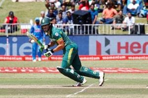 Faf du Plessis' century puts South Africa in good position against...