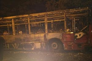NMMT bus catches fire in Navi Mumbai, passengers unhurt