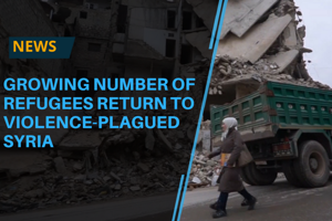 The number of refugees returning to Syria may grow over the coming...