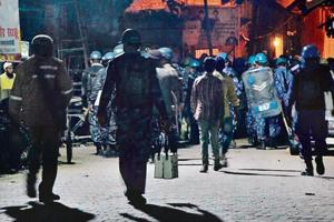 A week after clashes broke out, Kasganj remains on the edge with heavy security deployment.