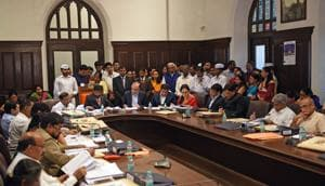 The civic budget was presneted at the BMCheadquarters last week.