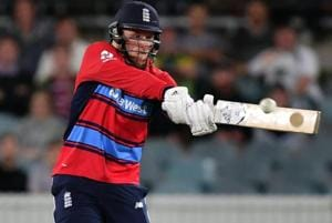 David Willey stars in England's easy T20 win over Nathan Lyon's Prime...
