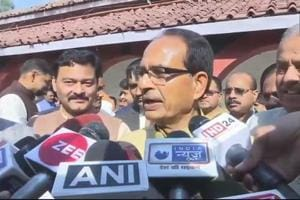 Shivraj Singh Chouhan speaks to the media after the cabinet expansion on Saturday.
