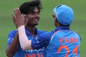 Anukul Roy (L) picked two wickets for 32 runs for India against Australia in the final of the ICC U-19 cricket World Cup 2018.