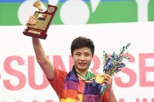 Shi Yuqi won the India Open badminton tournament for the first time after having not won a single title in 2017.