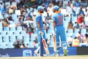 Virat Kohli (L) and Shikhar Dhawan guided India to a nine-wicket win over South Africa in the 2nd One-Day International (ODI) at SuperSport Park in Centurion today. Catch highlights of India vs South Africa, 2nd ODI, here.