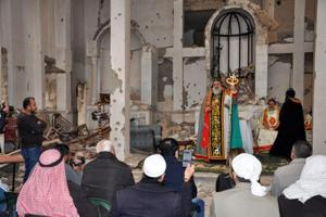 Syrian Christians,Muslims attend first service in years in ravaged...