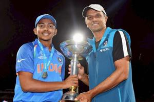 Rahul Dravid's secret message after India won the Under-19 Cricket...