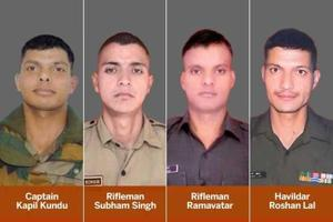 Four army personnel were killed in Pakistani firing along the Line of Control (LoC) in Tarkundi and Sunderbani areas of Rajouri , Jammu and Kashmir, onSunday.  Lal is the last (clockwise) in this combo photograph of the soldiers killed.